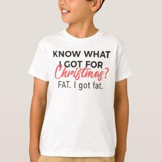 Camiseta Coma o peso gordo obtido comida Desig engraçado do