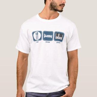 Camiseta coma o piano do sono
