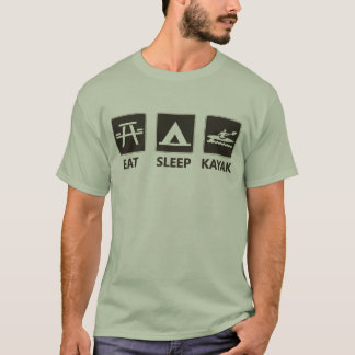 Camiseta Coma o preto do caiaque do sono