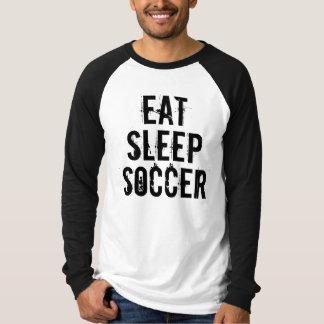 Camiseta COMA o Raglan longo básico da luva do FUTEBOL do