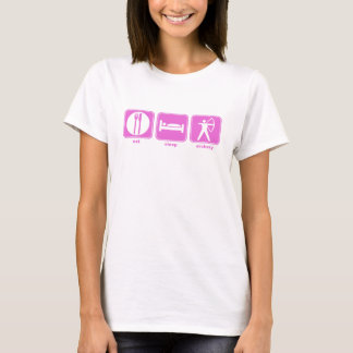 Camiseta coma o rosa do tiro ao arco do sono