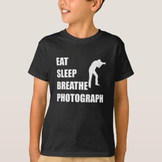 Camiseta Coma o sono respiram a fotografia