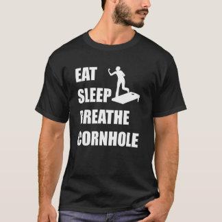 Camiseta Coma o sono respiram Cornhole