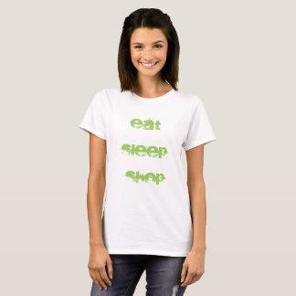 Camiseta Coma o T das mulheres da loja do sono