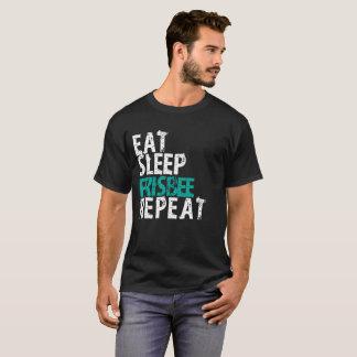 Camiseta Coma o t-shirt da repetição do Frisbee do sono