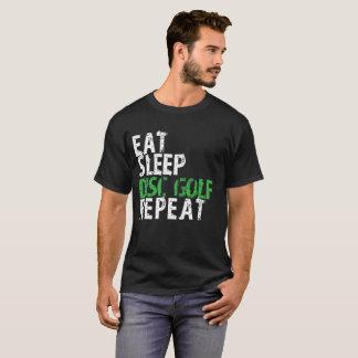 Camiseta Coma o t-shirt da repetição do golfe do disco do