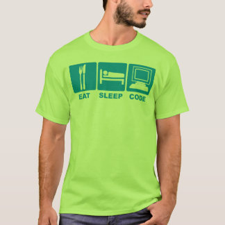 Camiseta Coma o t-shirt do código do sono