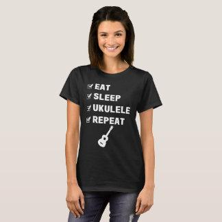 Camiseta Coma o t-shirt do músico da repetição do Ukulele