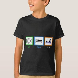 Camiseta Coma o t-shirt dos miúdos da natação do sono