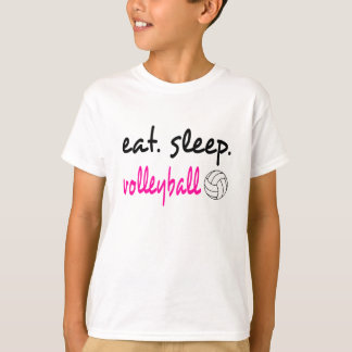 Camiseta Coma o T unisex dos miúdos do voleibol do sono