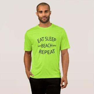 Camiseta Coma o Tshirt da praia do verão da repetição da