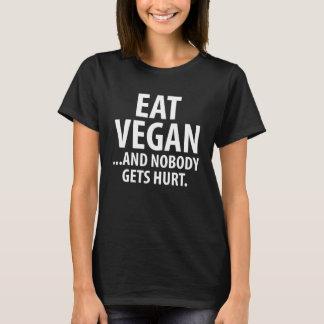 Camiseta Coma o Vegan e ninguém obtem a dieta de dano a