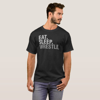 Camiseta Coma o Wrestle do sono para o T do presente do fã