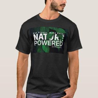 Camiseta Coma plantas. Faça ganhos. Natureza psta