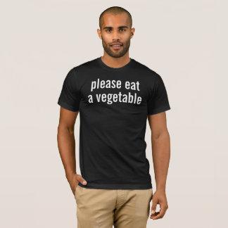 Camiseta coma por favor um vegetal