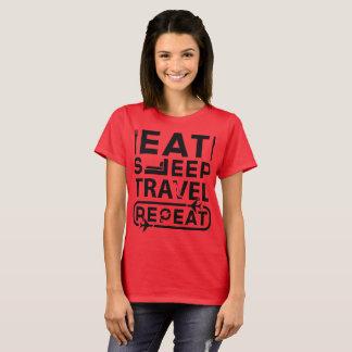 Camiseta Coma - sono - o viagem - repetição:- o T das