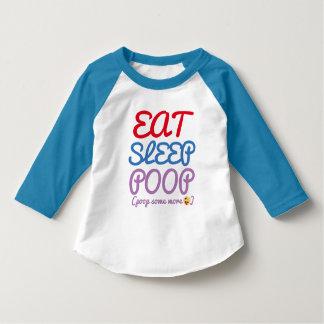 Camiseta coma um design mais engraçado do t-shirt da
