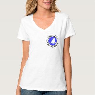 Camiseta Combinado: logotipo/gato cor-de-rosa, suficiência