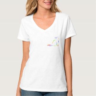 Camiseta Combinado: logotipo/gato do arco-íris, suficiência