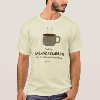 Camiseta Combustível da codificação