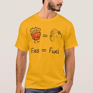 Camiseta combustível igual das fritadas