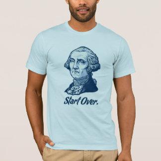 Camiseta Comece sobre o t-shirt de George Washington