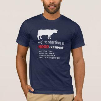 Camiseta Começo engraçado do amante da vaca da fazenda de