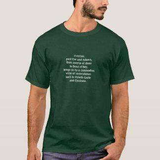 Camiseta Começo/extremidade do acordar de Finnegans