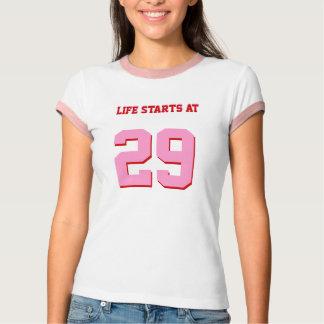 Camiseta Começos da vida aniversário engraçado de 29 piadas
