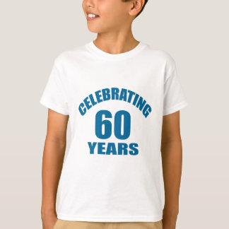 Camiseta Comemorando 60 anos de design do aniversário
