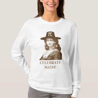 Camiseta Comemore a matemática, senhora do Pi