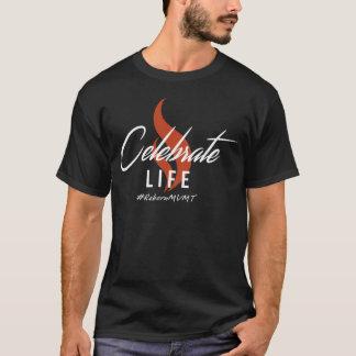 Camiseta Comemore a vida - homens médios