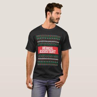 Camiseta Comemore este Natal com um assistente médico