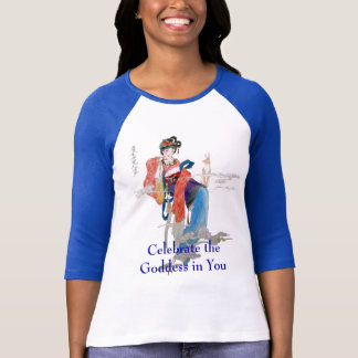 Camiseta Comemore o Raglan da deusa