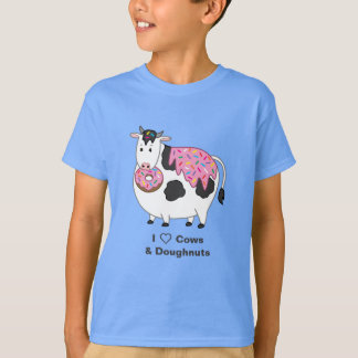 Camiseta Comer gordo engraçado da vaca de Holstein polvilha