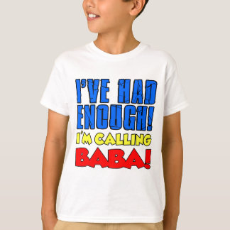 Camiseta Comeu bastante babá de chamada