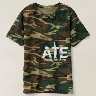 Camiseta COMEU o T do Camo dos homens