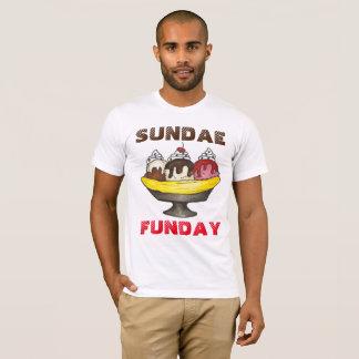 Camiseta Comida da separação de banana do sorvete do SUNDAE