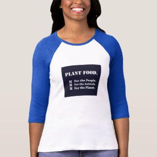 Camiseta Comida de planta para as pessoas, os animais, o