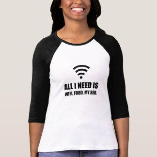 Camiseta Comida de Wifi minha cama