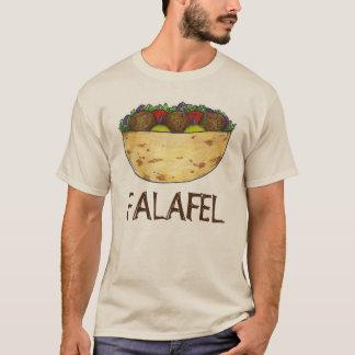 Camiseta Comida mediterrânea enchida Falafel do sanduíche
