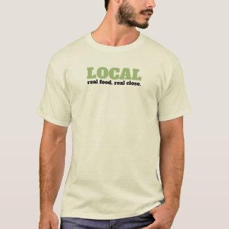 Camiseta Comida real. Fim real. T-shirt local da comida