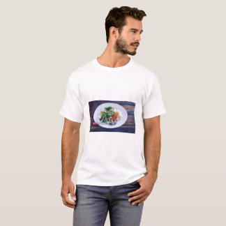 Camiseta Comida tailandesa pé Stewed da carne de porco no