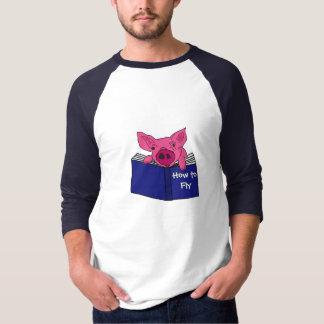Camiseta COMO a leitura engraçada do porco como ao livro de