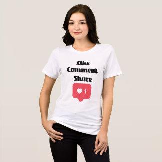 Camiseta Como a parte do comentário
