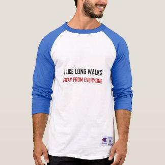 Camiseta Como caminhadas longas longe de todos