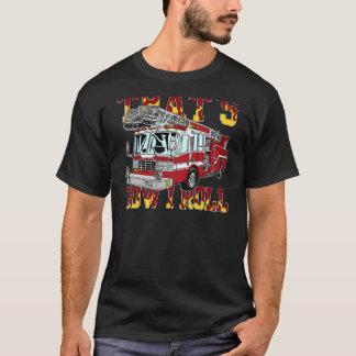 Camiseta Como eu rolo o carro de bombeiros