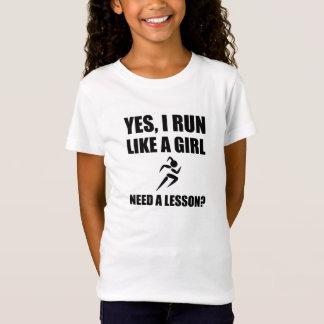 Camiseta Como um corredor da menina