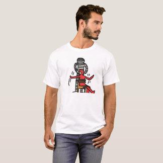 Camiseta Como um t-shirt branco dos homens de DreamySupply