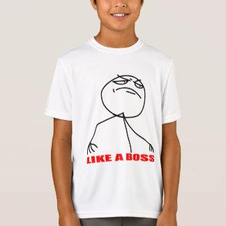 Camiseta Como uma cara do meme do chefe